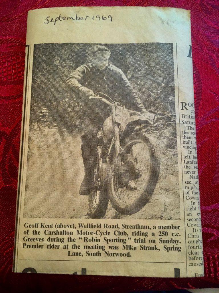 Geoff Kent Robin Sporting Trial